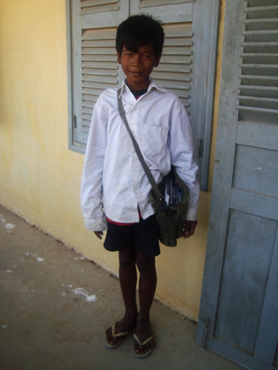 prey veng mcc yoeun chhang is in 6th grade he would like to be a teacher
